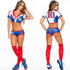 World Cup Uniform Soccer Player Cheerleader Football Baby Girl Sexy dress Socks