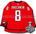 ALEX OVECHKIN WASHINGTON CAPITALS 2018 STANLEY CUP FINALS ADIDAS HOME JERSEY