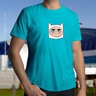 Adventure Time Frustrated Grumpy Mad Bad Mood Finn Face Mens Unisex Tee T-Shirt