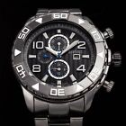 Men's August Steiner AS8130 Swiss Two Time Zone Date Quartz Steel Bracelet Watch