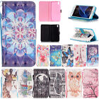 Pattern PU  Leather TPU Kickstand magnet Flip Money Card Slot Cover For Phones