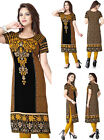 Women Printed Indian Long Multicoloured Indian Kurta Top Shirt Dress 118D