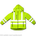 Hi-Vis Insulated Winter Jacket Coat Class 3 Meets ANSI/IS...