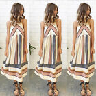 Hot Women Summer Boho Style Midi Dress Evening Party Casual Dress Print Dresses