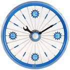 "16"" Aluminum Bicycle Wheel Wall Clock"