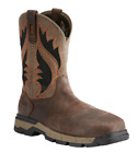 Ariat Mens Rebar Western VentTEK Work Boots CHOCOLATE Square Toe Choose sz