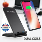 10W Wireless QI Fast Charger Charging Stand Holder For iPhone X iPhone 8 8 Plus