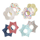 Baby Waterproof Bibs 5 Layers 100% Cotton Bandana Feeding Kids Toddler Flower 1