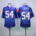 Blue Mountain State #7 Alex Moran 54 Thad Castle Stitched American Football Jers