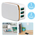 Aluminum 3-Port USB 5V 3.4A Wall Home Travel AC Fast Charger Adapter US Plug NEW