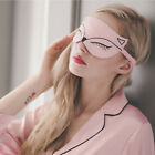 Soft Silk Sleep Mask Eye Cover Travel aid Rest Blindfold Shade Fox Accessories