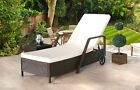 Rattan Day Bed Reclining Sun Lounger Outdoor Garden Furniture Patio Set New