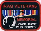IRAQ VETERANS THE WALL MEMORIAL HONOR THOSE WHO SERVED PATCH, MILITARY PATCHES