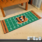 "NFL Teams Logo Football Field Shaped Runner Area Floor Carpet Mat Rug 30"" x 72"""