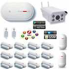 X53 APP WiFi GSM Wireless House Home Security Alarm System+Outdoor HD IP Camera