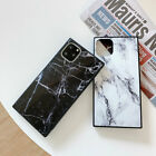 Rectangle Shockproof Marble TPU Case Cover For iPhone X XR XS Max 6 6s 7 8 Plus
