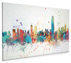 Hong Kong Skyline Cityscape Box Canvas and Poster Print (2013)