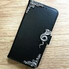 Naja Snake Phone Wallet Leather Flip Stand Case Handmade Cover For Apple iPhone