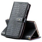 Luxury Crocodile Skin PU Leather Flip Wallet Stand Case Cover For Sony New Phone