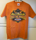 Harley Davidson Men's Orange Bark Brother Tee Shirt $18.99 USD on eBay
