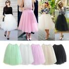US Womens Tulle Tutu A line Skirt Prom Princess Ballet Dress  U1