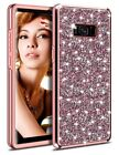 For Samsung Galaxy S8 Plus Case Heavy Duty Cover Shiny Diamond Dual Layer Rose