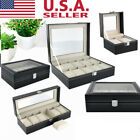 2-20 Slot Leather Watch Box Display Case Organizer Jewelry Storage Box Cases DS image