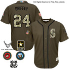 NEW Ken Griffey Jr Seattle Mariners Mens Salute to Service Military Camo Jersey