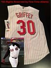 Authentic Ken Griffey Jr Cincinnati Reds 2004 06 Alternate Vest Jersey Mariners
