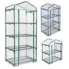Palm Springs 2 / 3 / 4 -Tier Mini Greenhouse with Cover and Roll-up Zipper Door