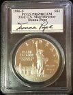 1986-S $1 Statue of Liberty Silver Dollar PCGS PR69DCAM signed by Donna Pope