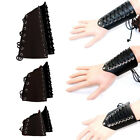 Cross Strings PU Leather Bracer Arm Cuff Gothic Cosplay Punk Style Wristband US