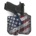 OWB Kydex Holster for 50+ Hanguns with OLIGHT PL-1 II VALKYRIE - SLANTED FLAG