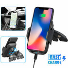 Qi Fast Wireless Car Charger CD Slot Mount Holder For Samsung Galaxy S20 Note 10