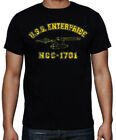 Star Trek Enterprise Trekkie Sci-Fi Space Ship Retro Vintage TV Black T Shirt on eBay