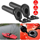 2/4PCS Flush Mount Fishing Boat Rod Holder Bracket With Cap Cover for Kayak Pole