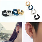 Men Titanium Steel Magnetic Clip On Earrings No Piercing Charm Hoop Earrings New image