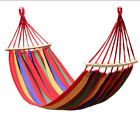 1-2 Person Portable Canvas Outdoor Hammock Garden Sports Home Travel Camping