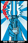 Star Wars Pop Art Lightsaber   - CANVAS OR PRINT WALL ART $12.0 USD on eBay