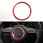 "Red 3.7"" Car Steering Wheel Trin Decoration Ring for Audi A3 A4L Q3 Q5 A5 A7"