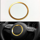 "Gold 3.7"" Car Steering Wheel Trin Decoration Ring for Audi A3 A4L Q3 Q5 A5 A7"