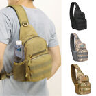 Mens Tactical Military Sling Chest Pack Messenger Shoulder Camo Molle Travel Bag