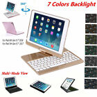 Backlit Bluetooth Keyboad Smart 360 Swivel Case Cover For 2018 iPad 9.7 6th Gen