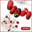 Nail Art Accessories Rose Flower Pearl  Rhinestones Rivet Colorful Mixed Nail Ar