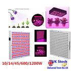 10/45/600/1200W Plant Grow LED Hydroponic Lamp for Flower Greenhouse Veg Bloom