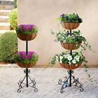 Metal Planter 2 Or 3 Tier Fountain Planter Includes Liners Gardening Flowers
