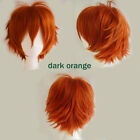Graceful Cosplay Party Full Wig Short Straight For Women Heat Resistant Hair Ukx