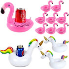 Inflatable Floating Drink Cup Can Beer Holder Unicorn Flamingo Party Halloween