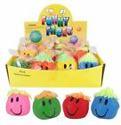 Bulk Lot x 4 SMILEY FACE Anti-Stress Squeeze Balls 7cm New + Sealed