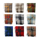 New BNWT Scottish Throw Large Wool Tartan Rug - Range of Tartans / Colours